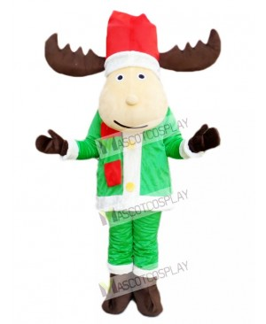 Cute Christmas Deer Reindeer Mascot Costume