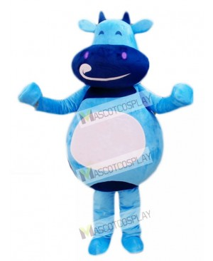 Blue Cattle Calf Mascot Costume