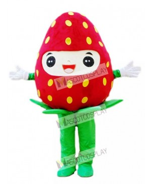 Fresh Strawberry Mascot Costume Fruit