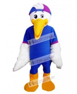 Bird in Blue Shirt Mascot Costume Animal