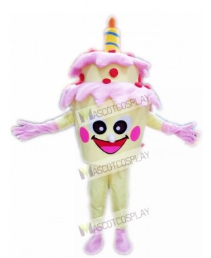 Two-Layer Birthday Cake with Candle Mascot Costume