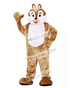 Brown Chipmunk Mascot Costume