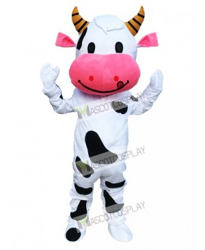 Pink Ear Cow Mascot Costume