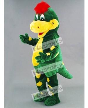 Green Dino Dinosaur Mascot Costume