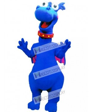 Blue Dragon Stuffy Mascot Costume