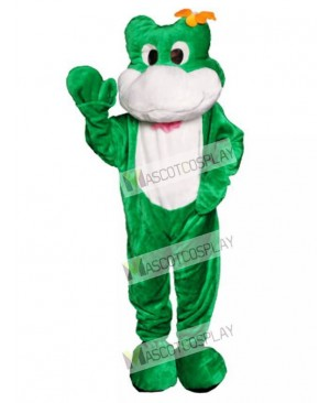 Friendly Frog Mascot Costume