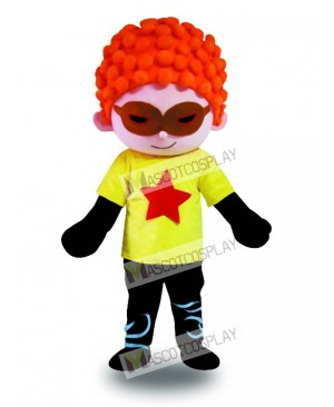Red Hair Cool Boy Mascot Costume