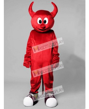 High Quality Adult Halloween Red Evil Devil Mascot Costume