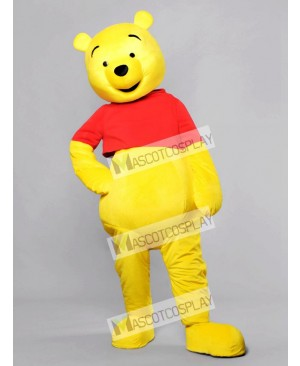Happy Face Winnie the Pooh Bear Mascot Costume Cartoon