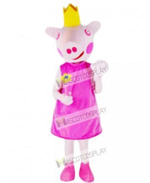 Pink Pig Princess Mascot Costume