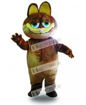 Brown Cat Cartoon Mascot Adult Costume