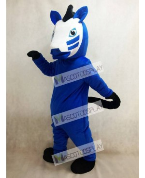 Adult Royal Blue Trojan Horse Mascot Costume Animal
