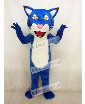 Adult Royal Blue Fierce Wildcat Mascot Costume