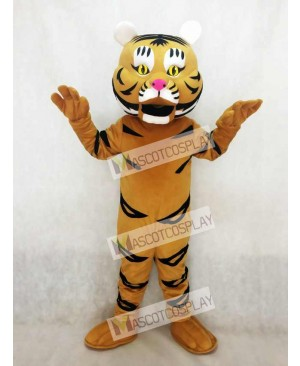 High Quality Adult Yellow Orange Tiger Ted Mascot Costume
