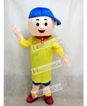 Caillou Mascot Costume Boy with Blue Hat