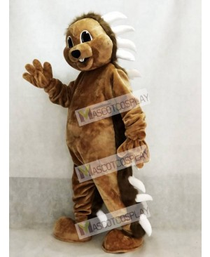 Cute Brown Porcupine Mascot Costume Animal