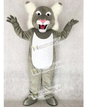 Cute Grey Wildcat Wild Cat Mascot Costume