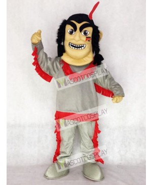 Native American Indian Mascot Costume with Red Feather