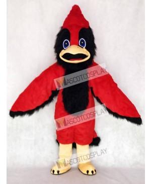 Cute Big Red Bird Mascot Costume