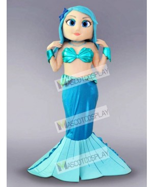 Blue Mermaid Mascot Costume