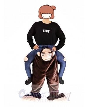 Piggyback Monkey Carry Me Ride Brown Monkey Mascot Costume