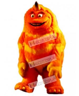 High Quality Adult Orange Monster Mascot Adult Costume