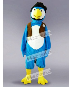 Blue Parrot Bird Mascot Costume