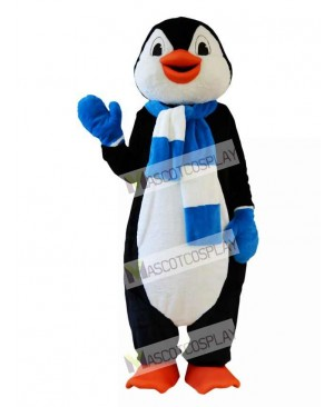 Penguin With Scarf Mascot Costume
