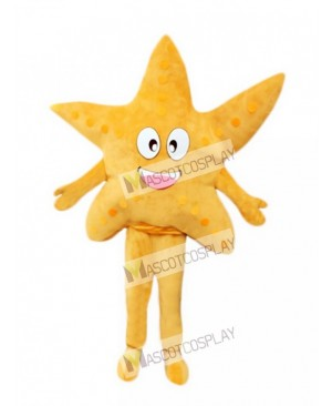 Yellow Starfish Adult Mascot Costume
