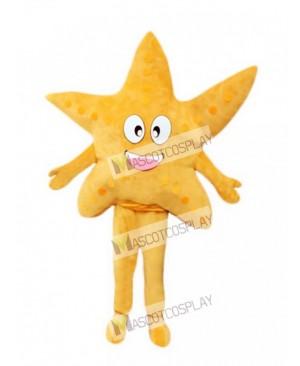 Yellow Starfish Adult Mascot Costume