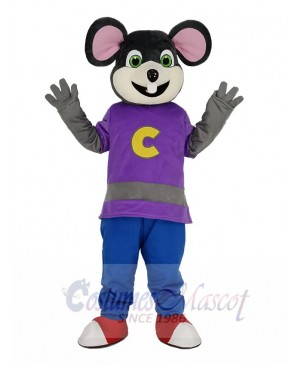 Chuck E. Cheese Mouse with Beige Face Mascot Costume