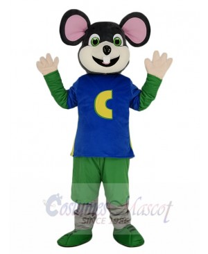 Chuck E. Cheese Mouse with White Face Mascot Costume