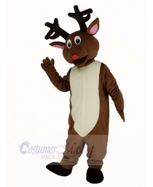 Christmas Brown Reindeer Mascot Costume