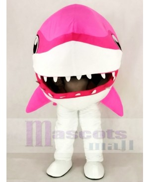 Cute Pink Whale Shark Mascot Costume Cartoon