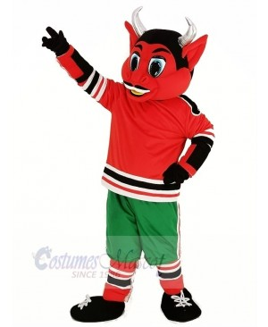 New Jersey Red Devil with Green Trousers Mascot Costume