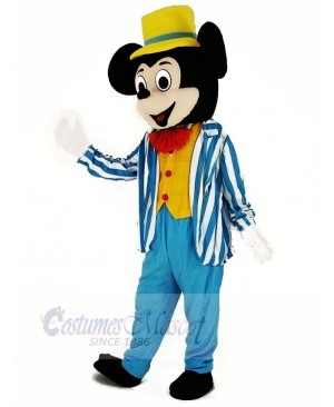 Mickey Mouse in Blue Mascot Costume Cartoon
