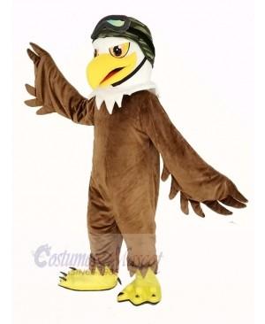 Cool Brown Eagle Mascot Costume