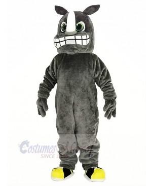 Gray Rhino Mascot Costume Animal