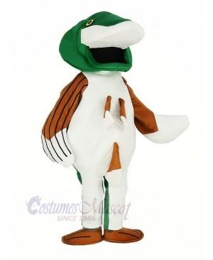 Green Bass Fish Mascot Costume Cartoon