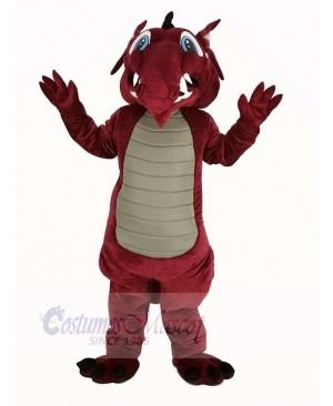 Wine Color Dragon Mascot Costume