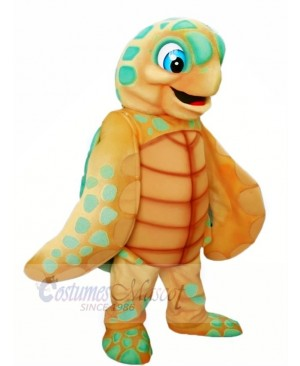 Light Brown Sea Turtle Mascot Costume Cartoon