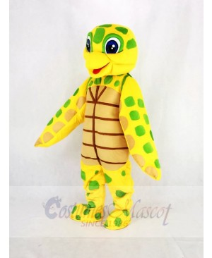 Cute Sea Turtle Mascot Costume Cartoon