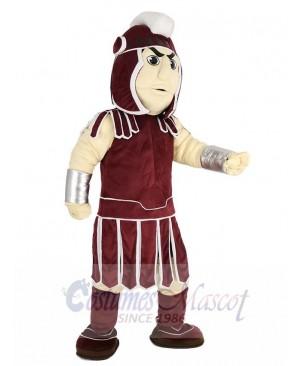 Dark Red Spartan Trojan Knight Sparty Mascot Costume