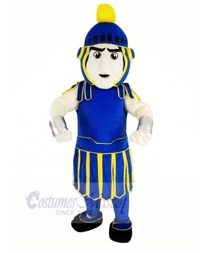 Blue and Yellow Titan Spartan Trojan Knight Sparty Mascot Costume People
