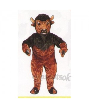 Cute Bison Mascot Costume