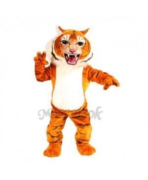 Cute Super Tiger Mascot Costume