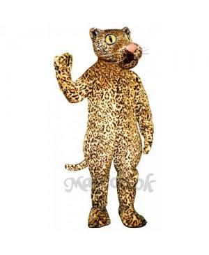 Cute Leland Leopard Mascot Costume