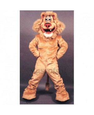 Cute Lionel Lion Mascot Costume