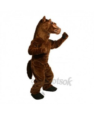 Cute Power Fierce Stallion Horse Mascot Costume