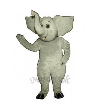 Cute Eddy Elephant Mascot Costume